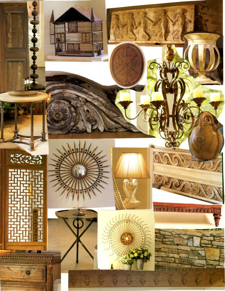 Examples of Sculptural Interest for a Beige room.