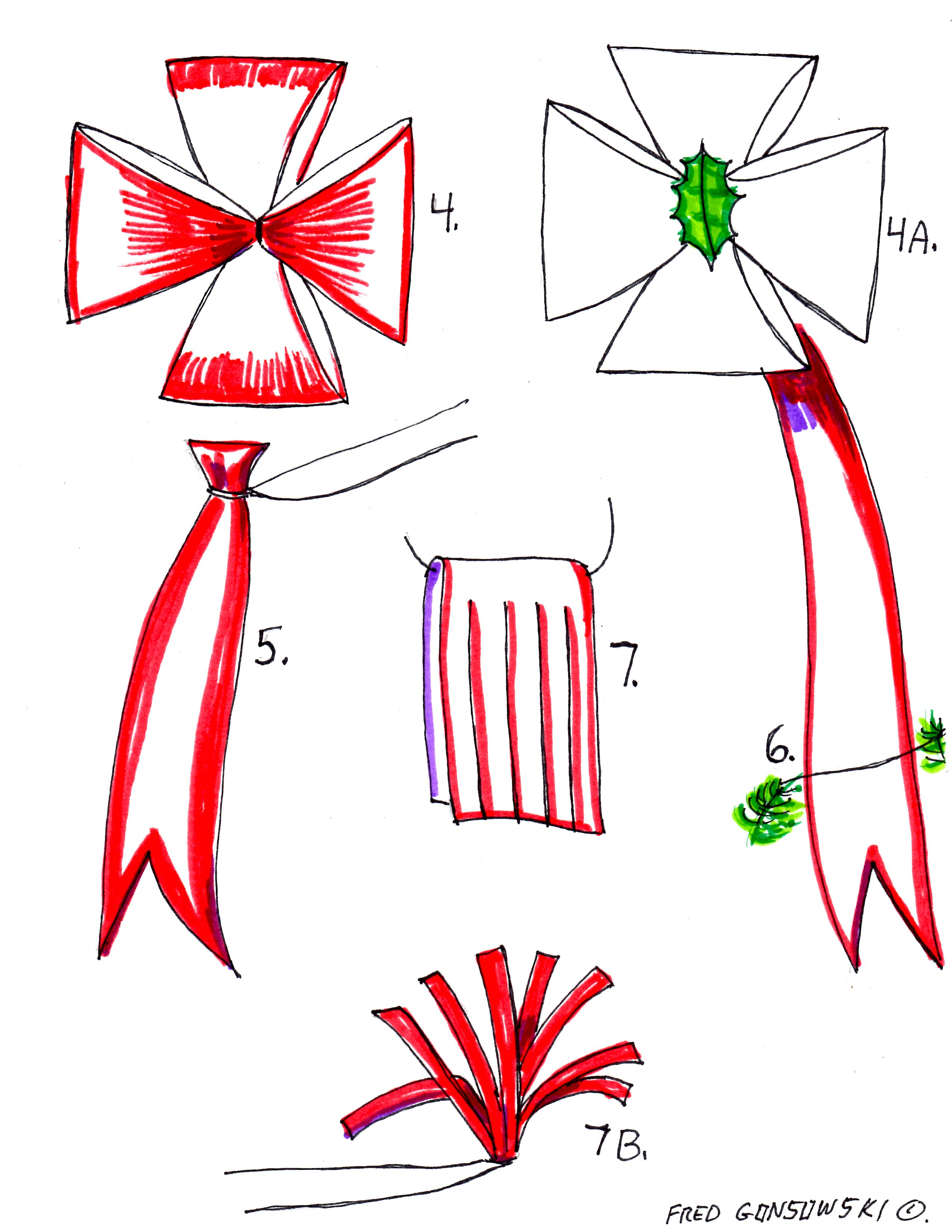 how to draw a bow tie easy