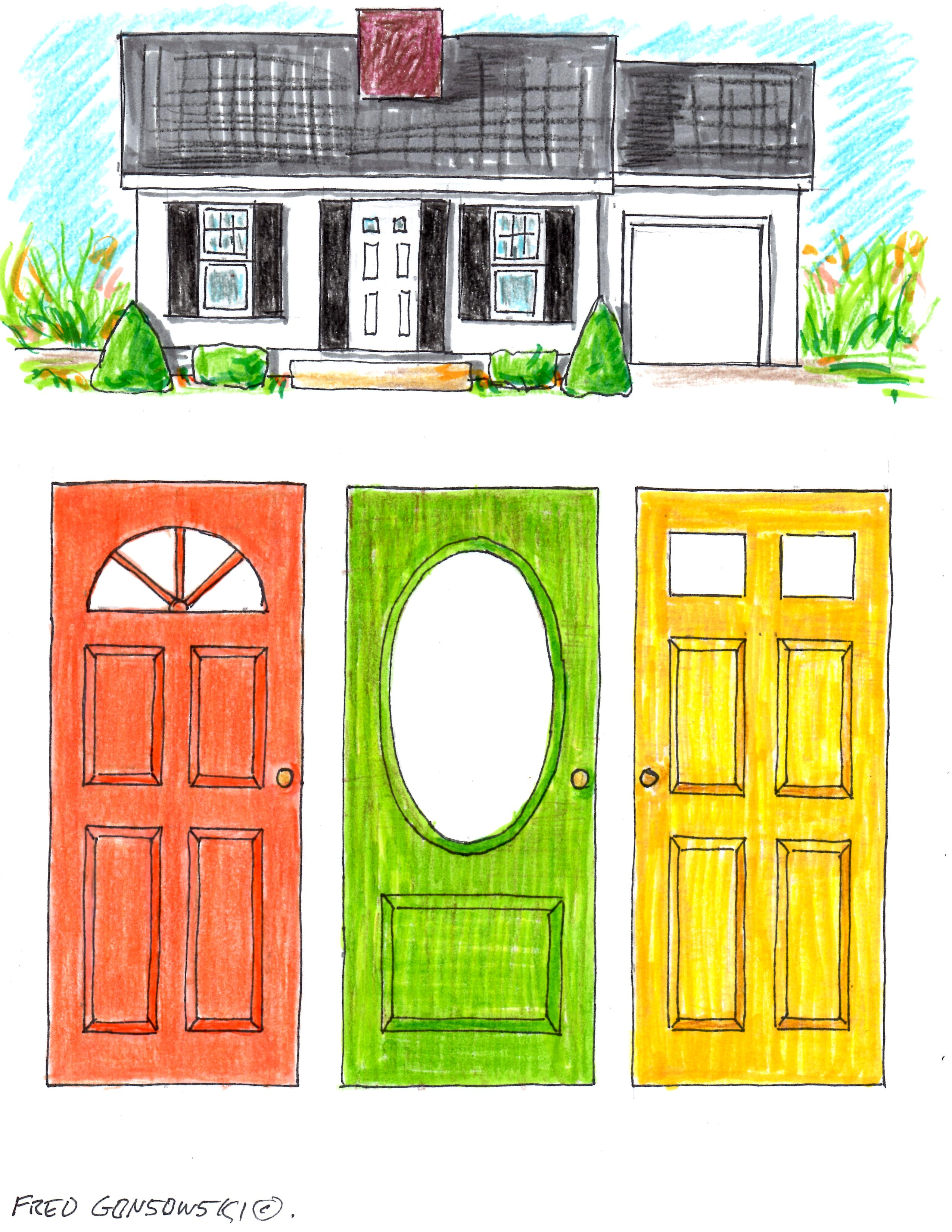 picking a color for your front door | fred gonsowski garden home
