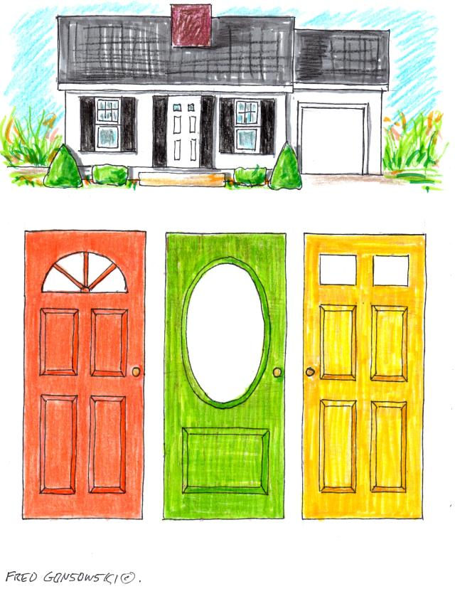 Picking a color for your front door fred gonsowski for How to pick paint colors