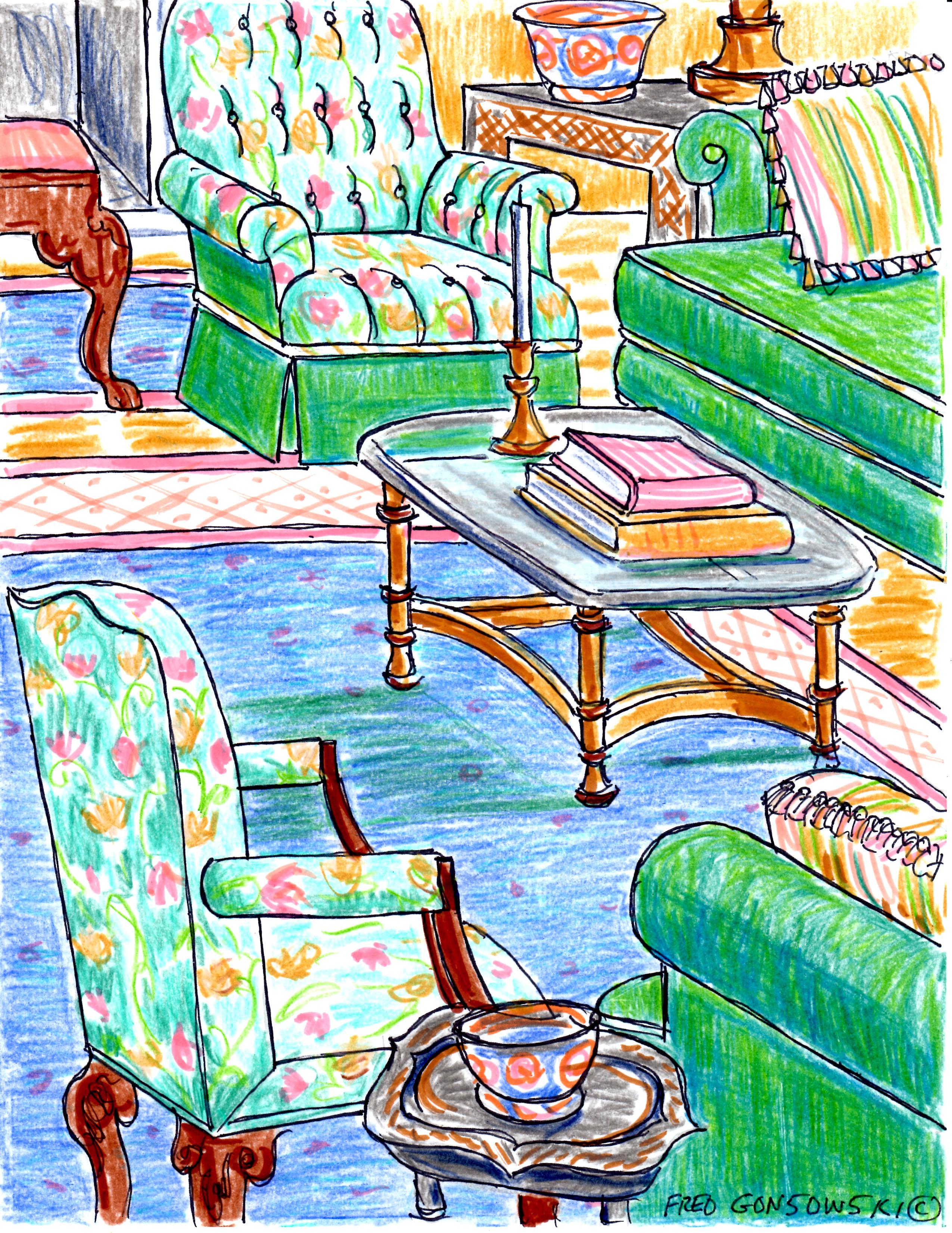 Arranging living room furniture so sofas talk to chairs for Placing living room furniture