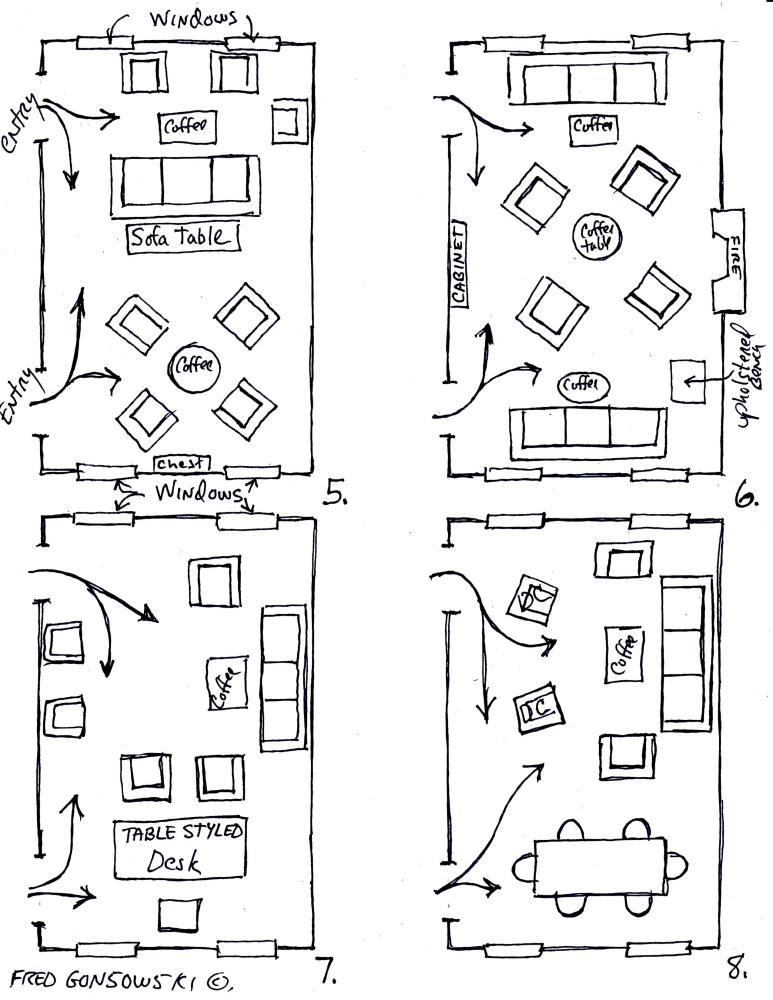 Arranging furniture TWELVE different ways in the Same Room (3/4)