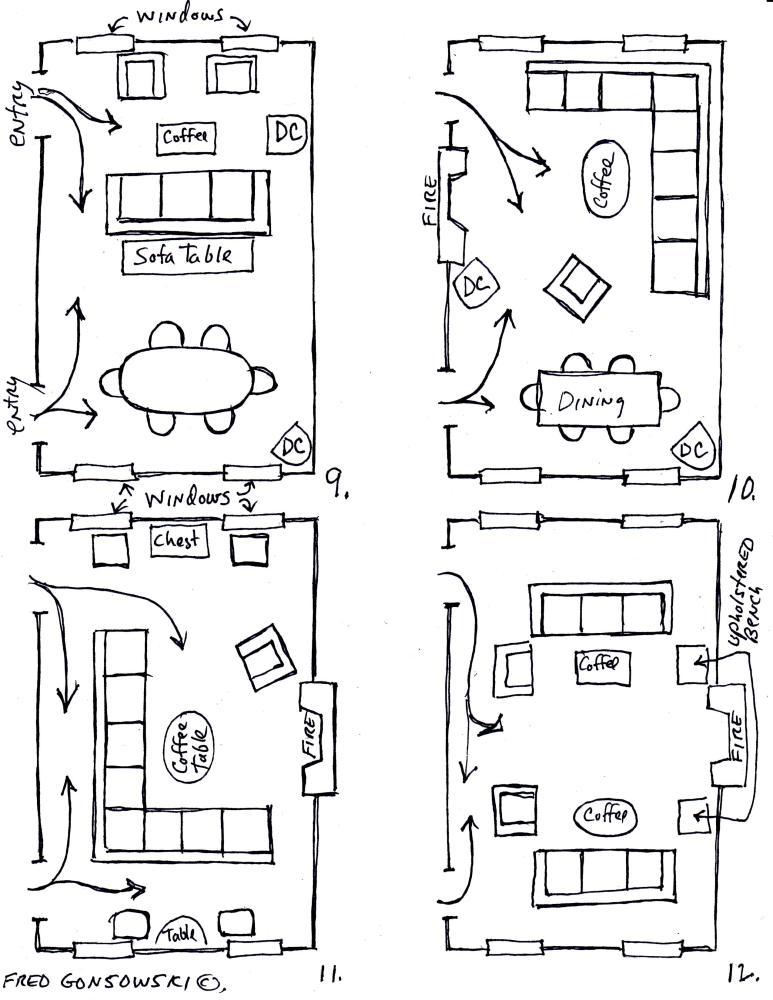 Arranging furniture TWELVE different ways in the Same Room (4/4)