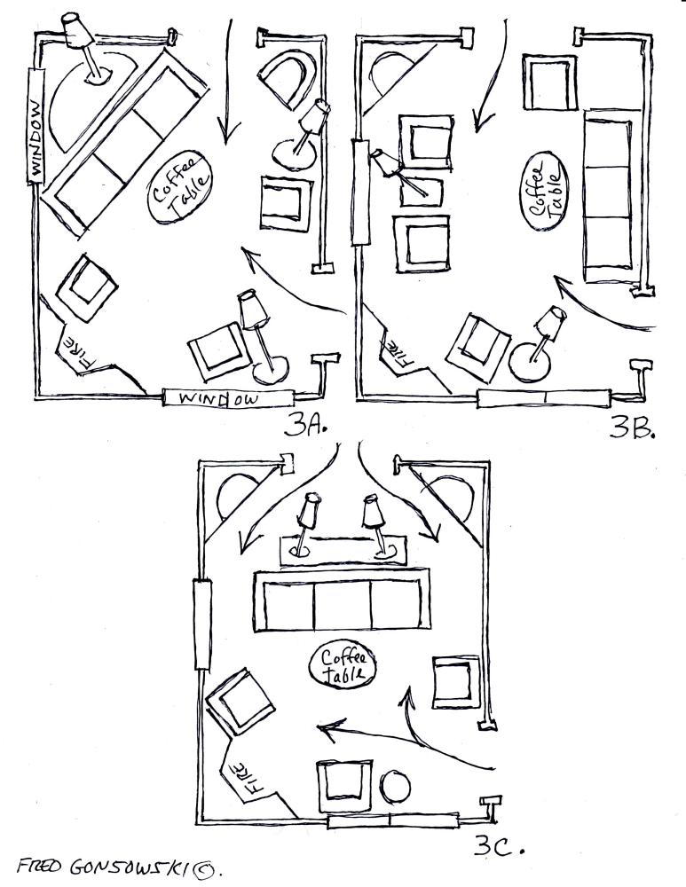 Arranging Furniture around a Fireplace in the Corner of a Room (4/4)