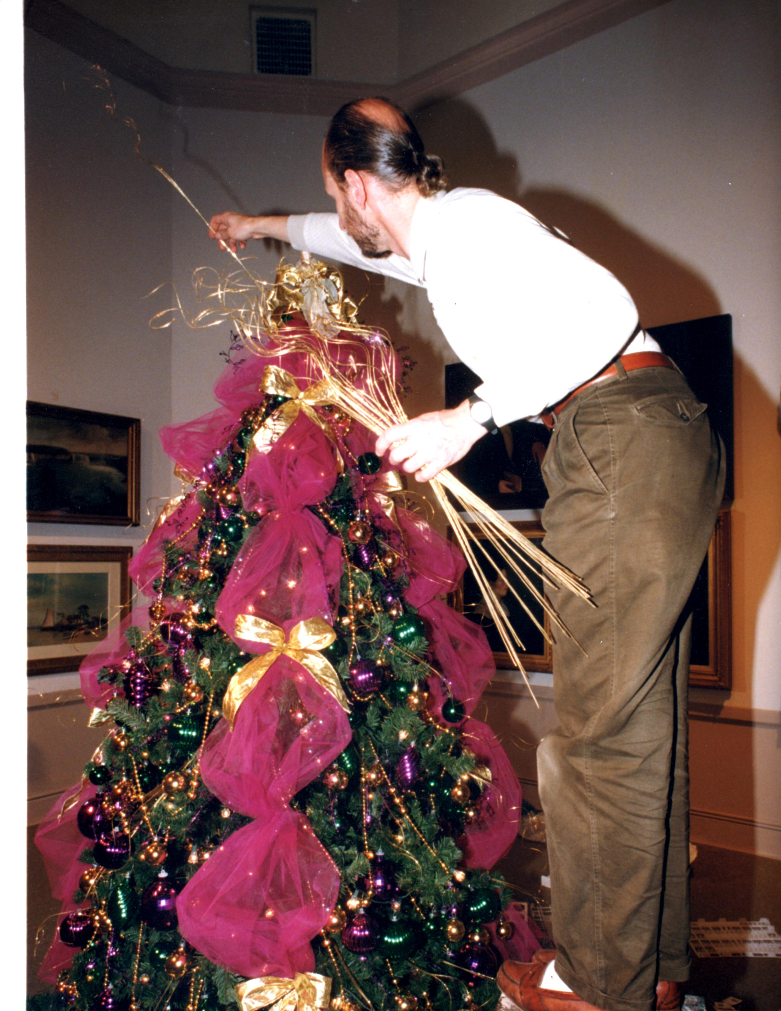 how to decorate a christmas tree with tulle - Christmas Tree Filler Decorations