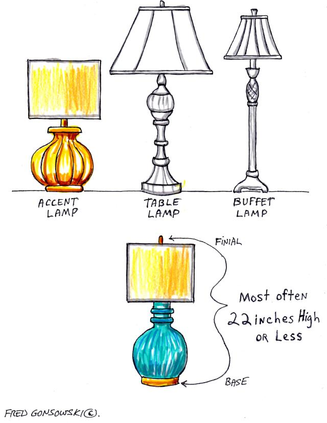 Accent Lamps, short in stature, but can emit a lot of light