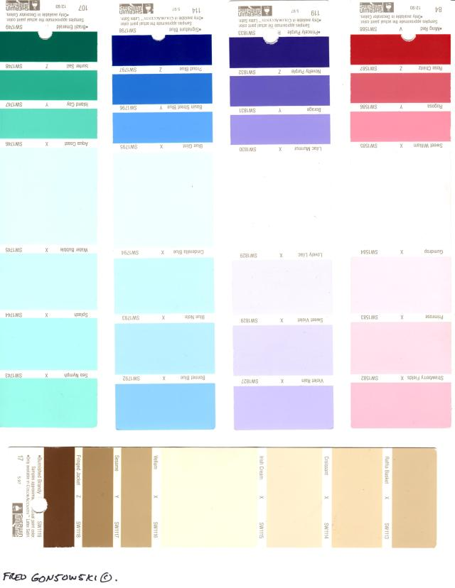 Looking at Paint Color Strips