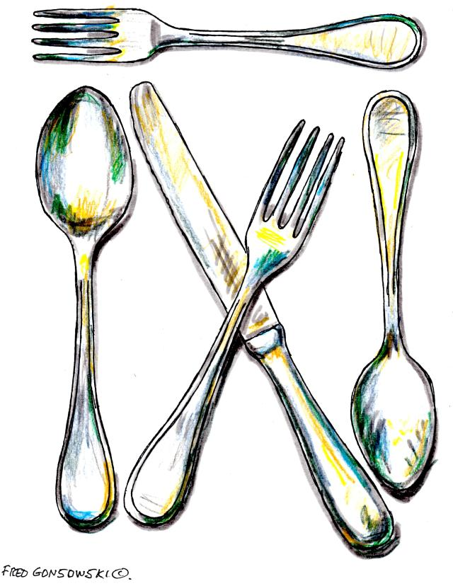 My William-Sonoma Morgan Pattern 18/10 Polished Stainless Steel Flatware