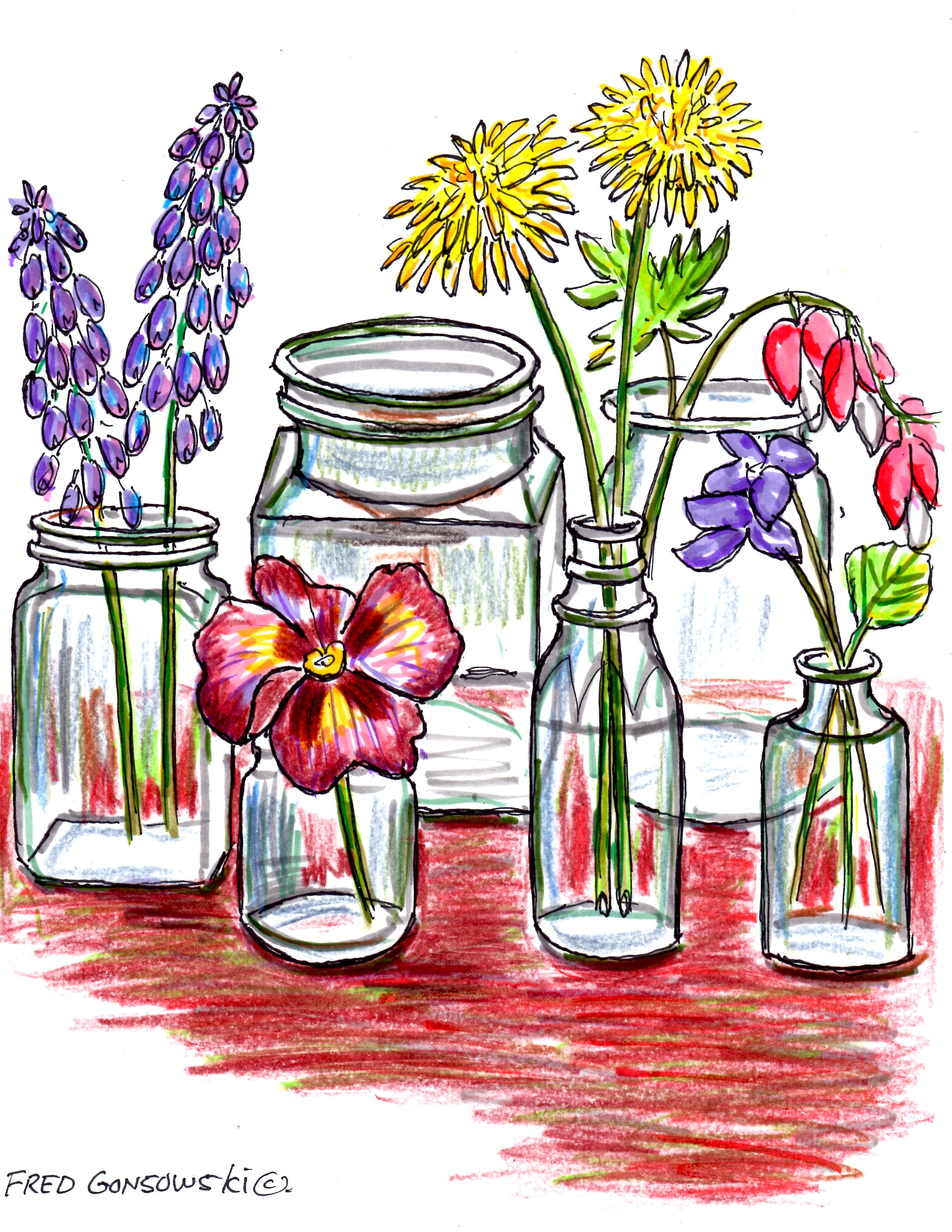 Start collecting small glass bottles they make great for Flowers in glass bottles