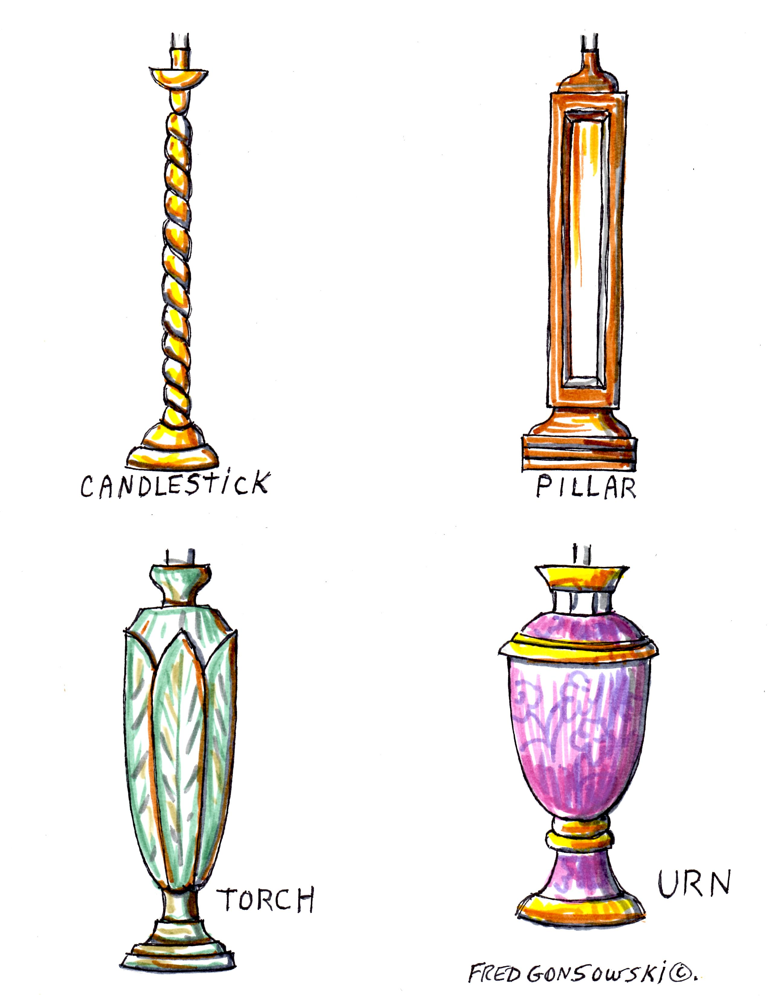 The Four Different Styles Of Lamp Bases