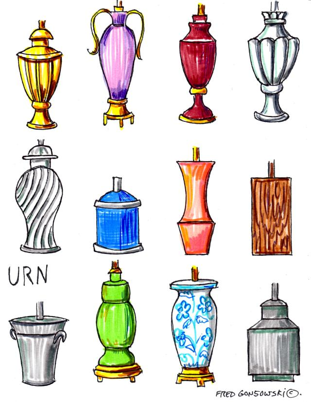 Urn styled Lamp Bases