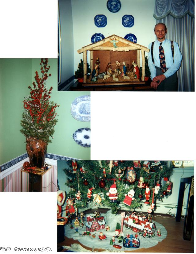 The manger that I set up in the dining room was bought by parents for $9.95 at Montgomery Wards in the 1960&#039.  My father made the box from birch that he cut by hand at his parent's farm.