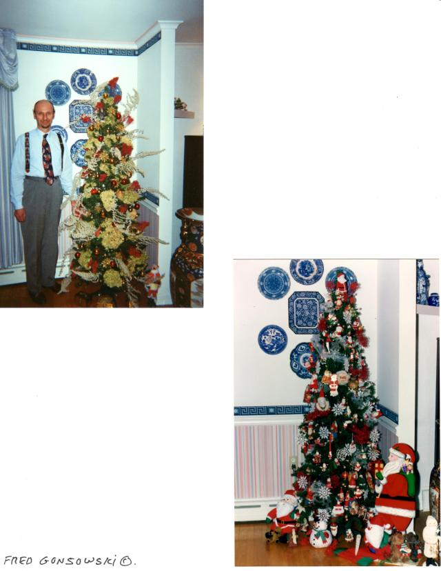 Different trees in the Dining Room over the years