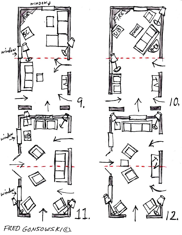 Arranging Furniture in a 12 foot wide by 24 foot long Living Room (4/4)