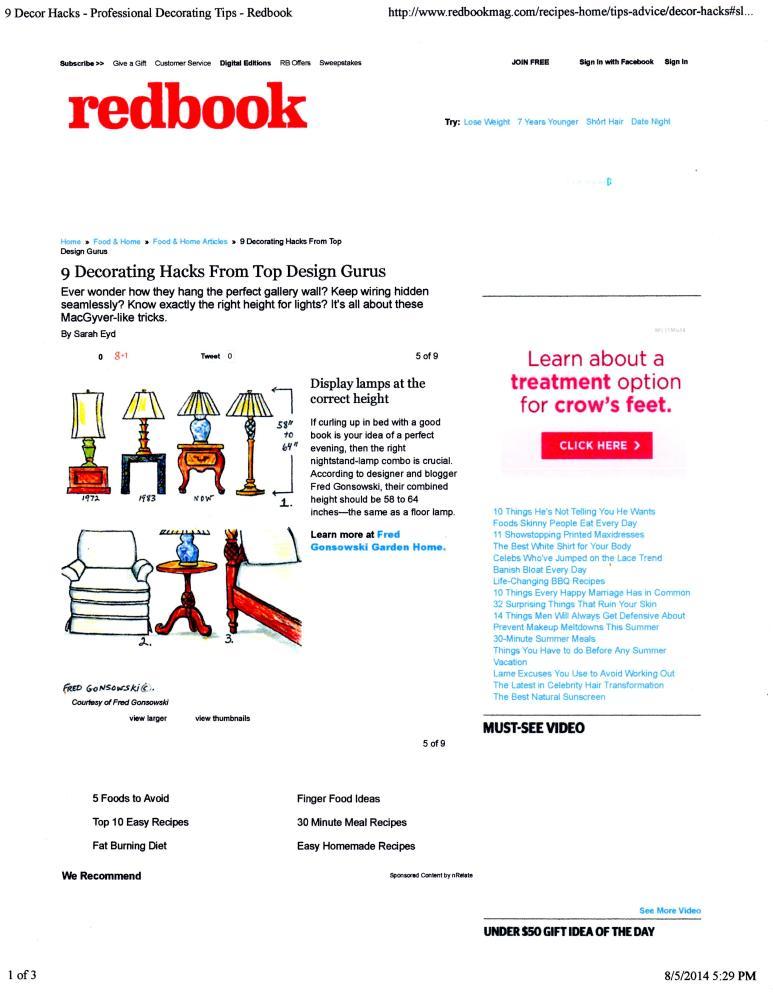 One of my Decorating Posts has been Featured on Redbook Magazine's  website....Redbookmag.com