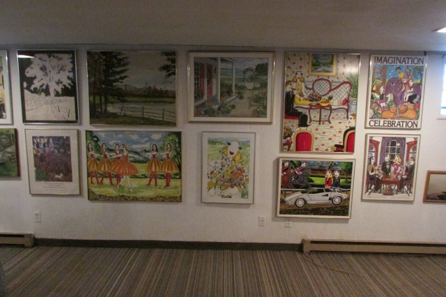 Two views of one of the Gallery Walls in my cellar.