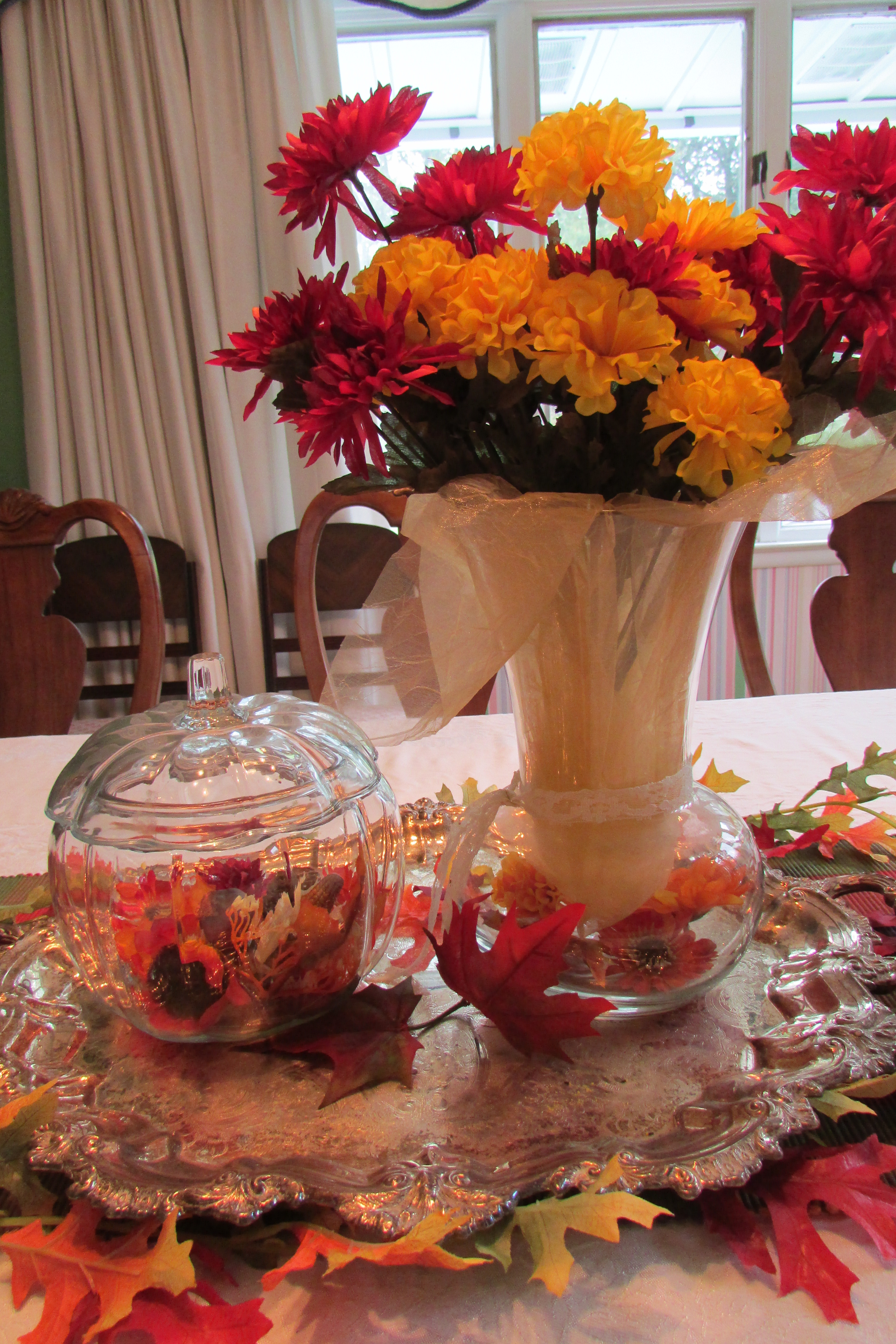 Decorating The House For Fall With Easy To Make Silk Flower Arrangements Fred Gonsowski Garden