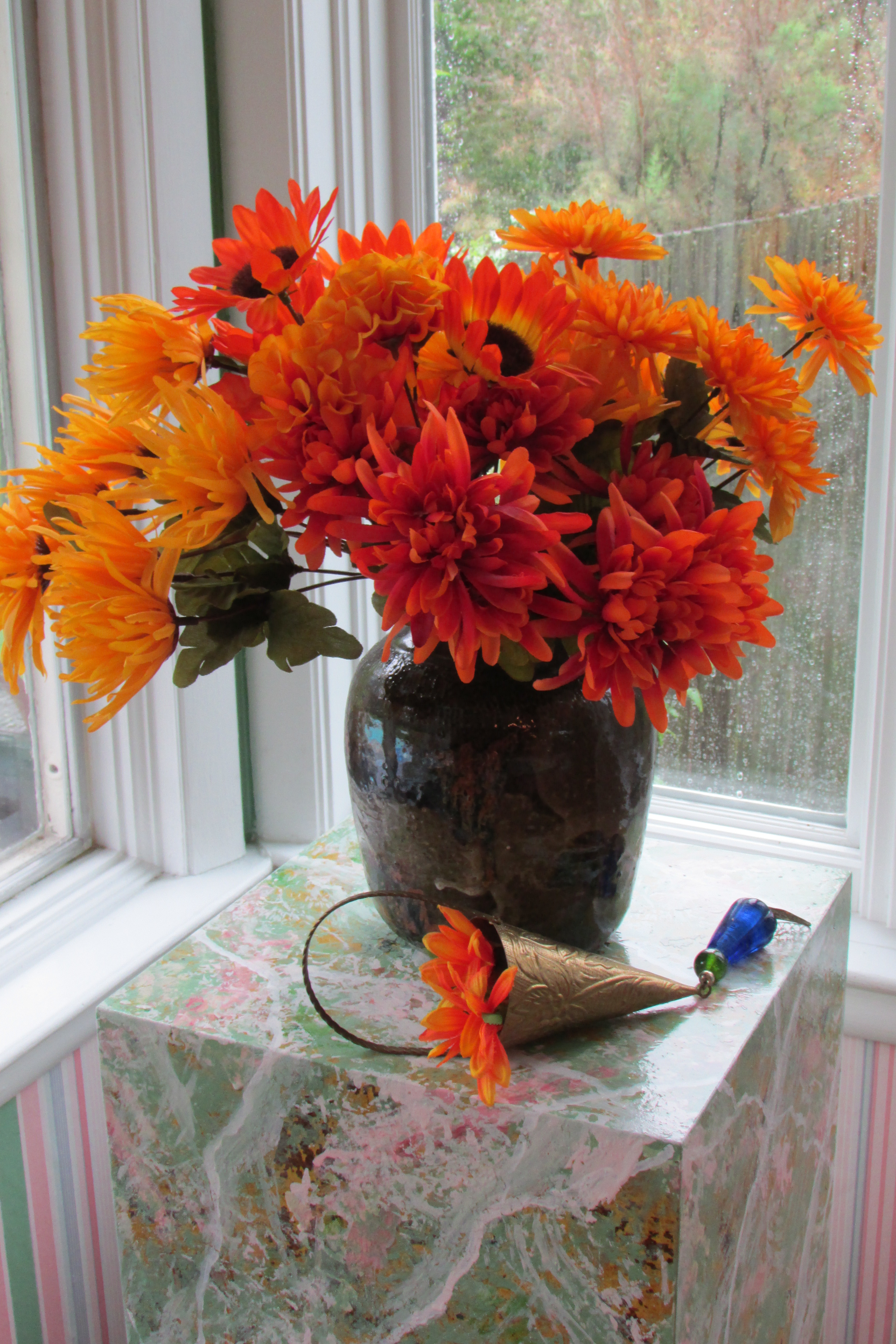Decorating the House for Fall with easy to make Silk Flower ...