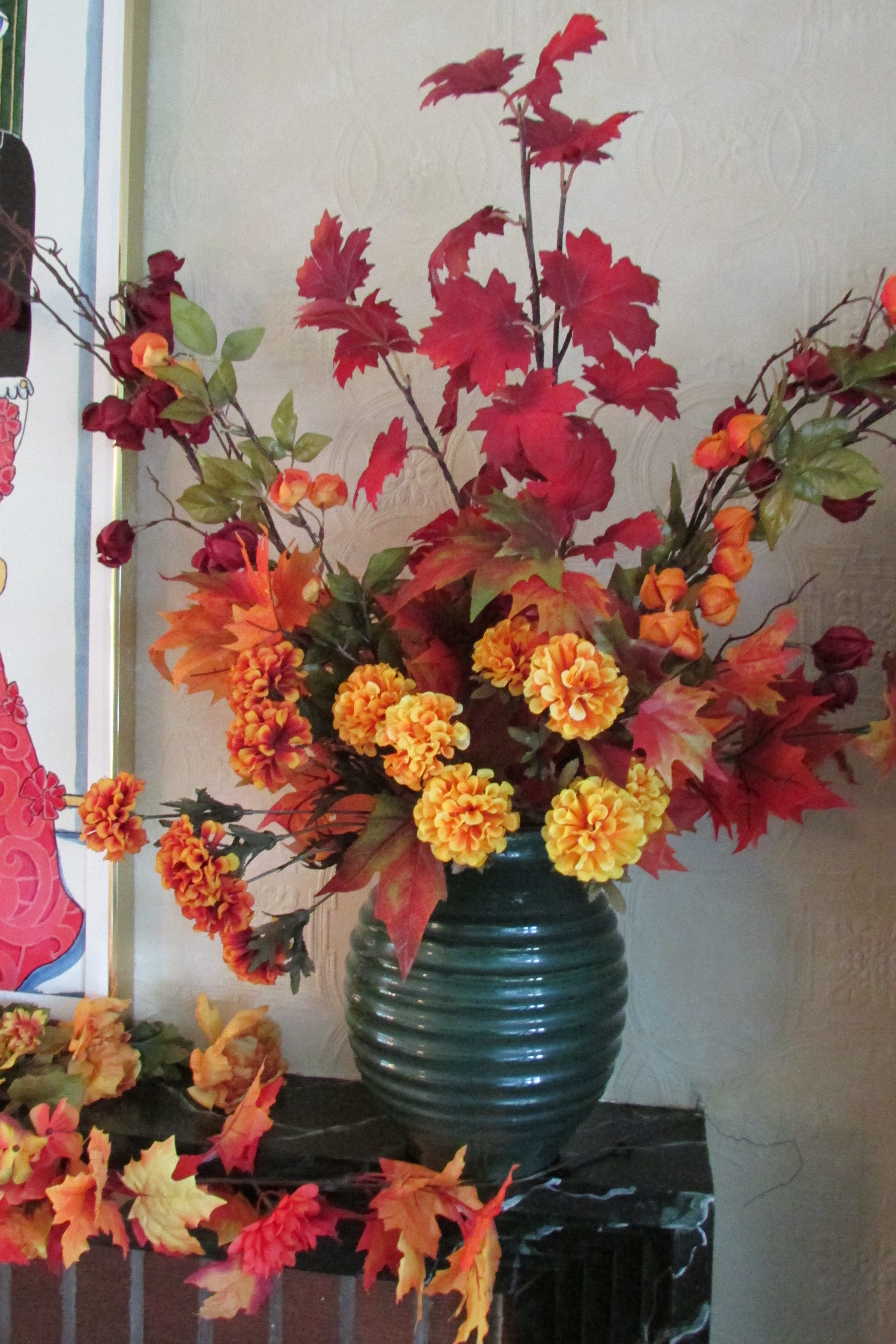 Decorating The House For Fall With Easy To Make Silk Flower
