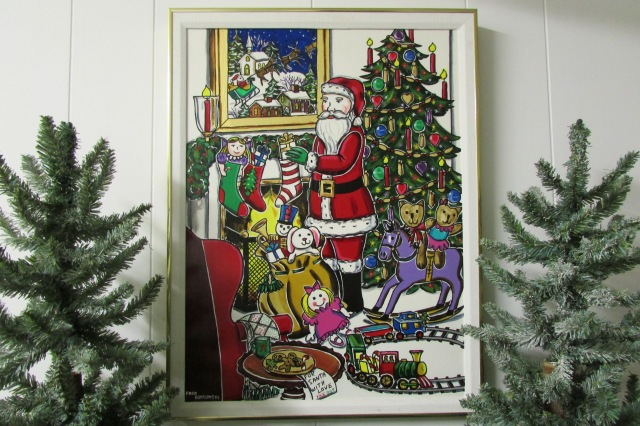 A painting of Santa Claus that I made around 1990 (click on photos to enlarge).
