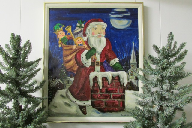 A painting of Santa Claus that I made in 1985.