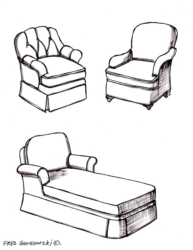 Club chairs and Chaise Lounges are perfect additions to a large bedroom.