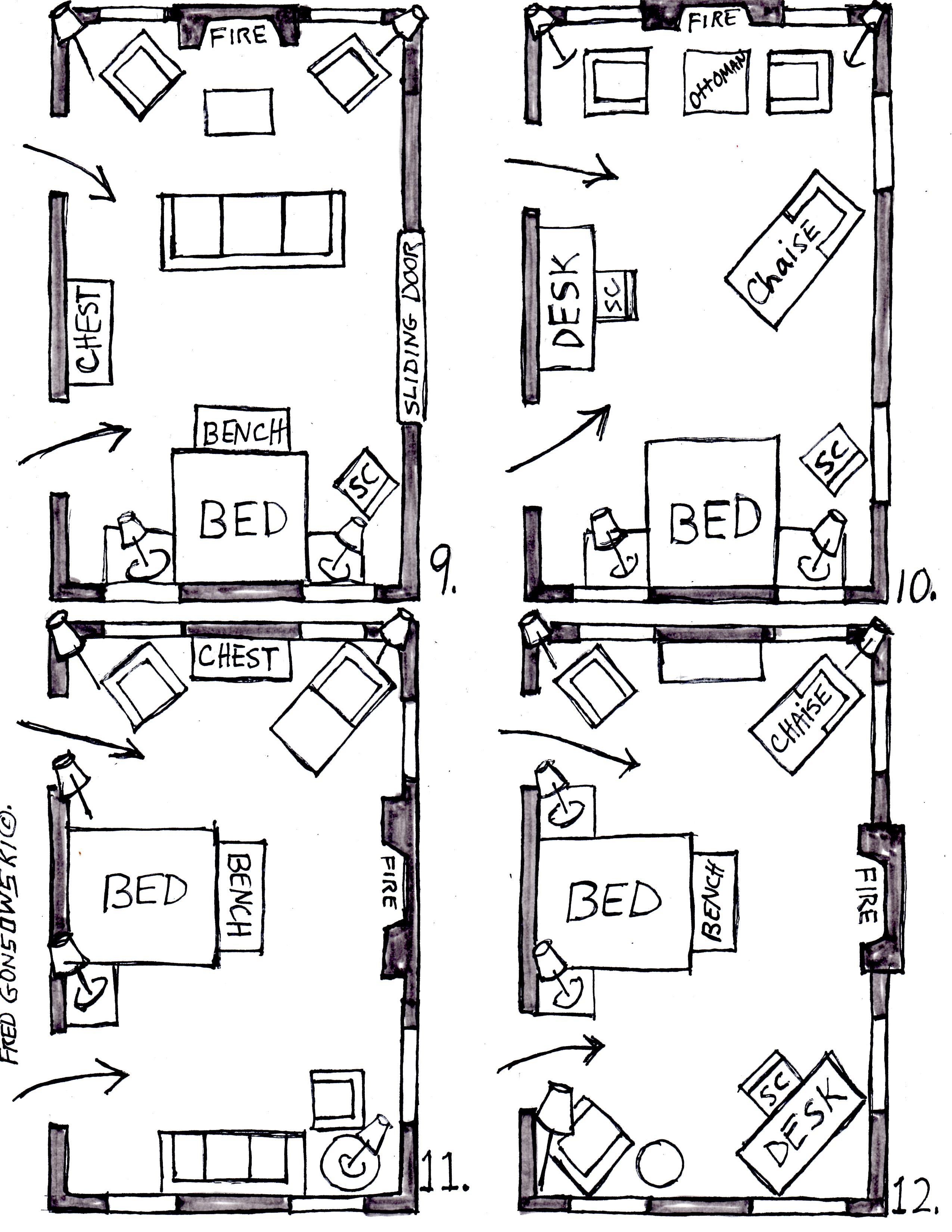 Arranging Furniture in a 15 foot wide by 25 foot long Bedroom | Fred ...