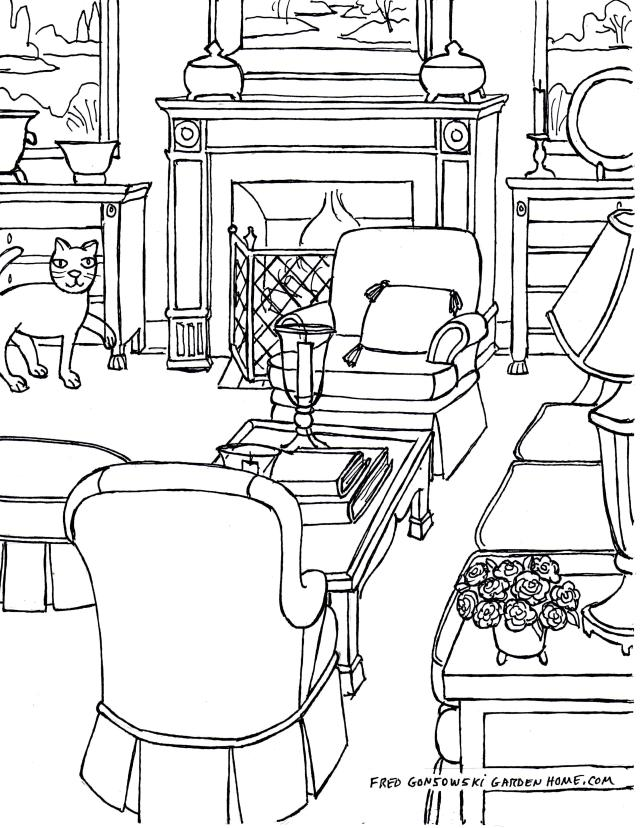 Drawing living room