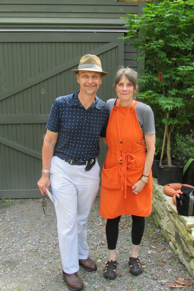 Margaret Roach and me at the June 2016 Garden Conservancy Open Day garden tour at her property in Copake Falls, NY.