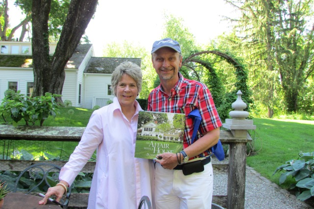 "Bunny Williams, author of the iconic coffee table book "" An Affair with a House"" and me, on the day of the Garden Conservancy's Open Days 2016 tour."