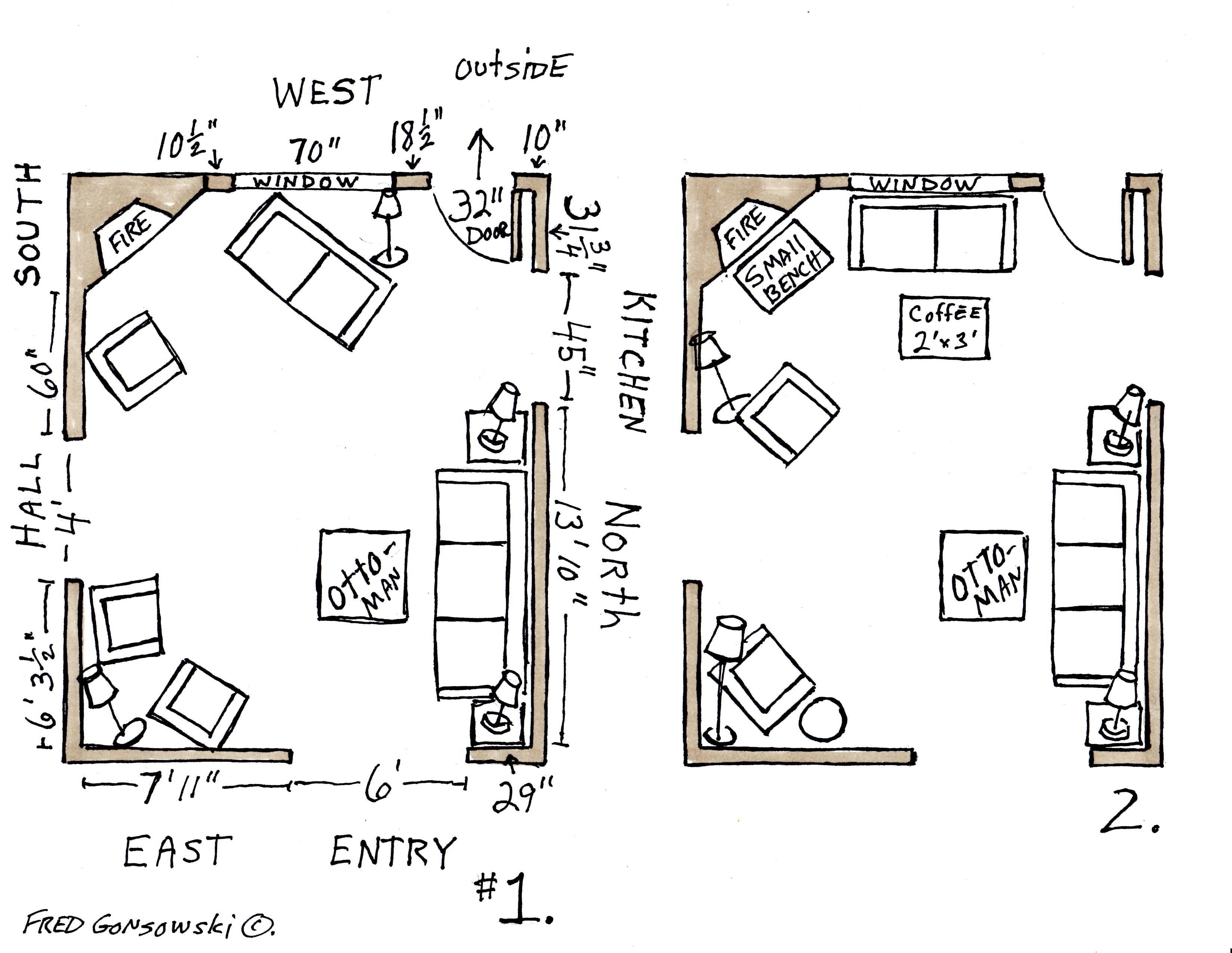 Illustration 1 Shows The Layout Of Room With Measurements Provided By Summer Notice Labeling Four Walls North South East And West