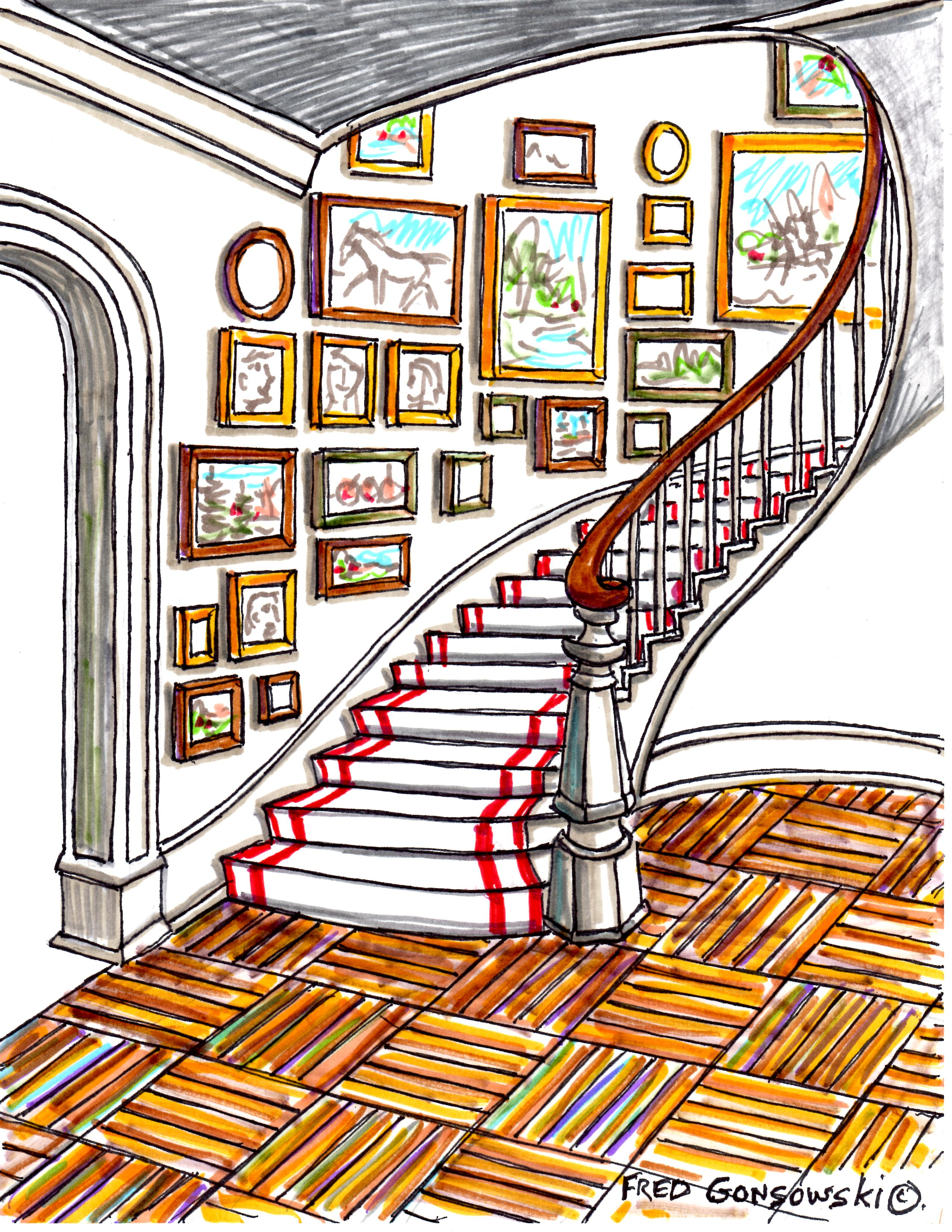 Hanging Pictures On A Staircase Creating A Gallery Wall Fred